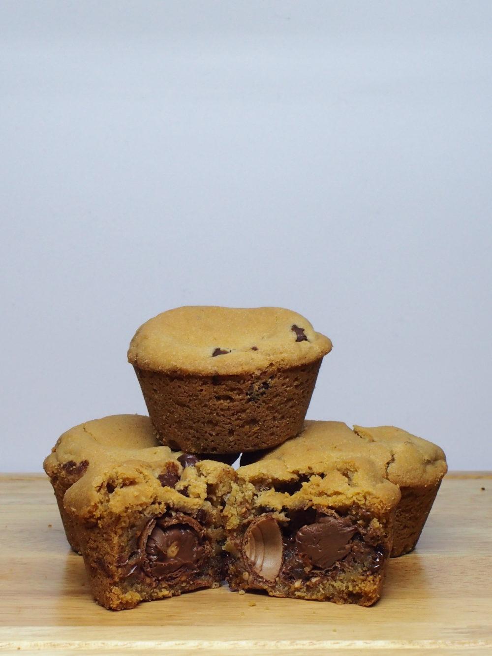 Chocolate Chip Ferrero Rocher Muffin Cup Broken